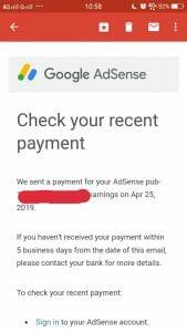 email gajian dari google
