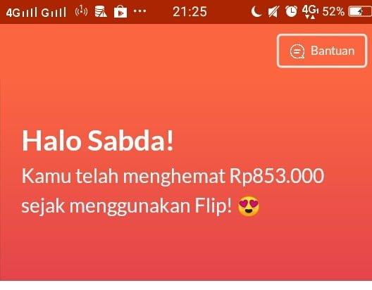 Penghematan menggunakan Flip aplikasi transfer uang