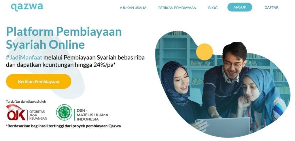 p2p lending syariah qazwa