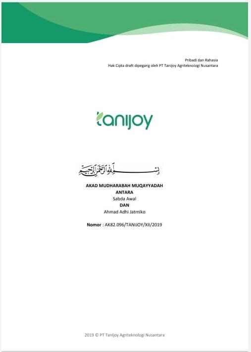 Perjanjian akad tanijoy