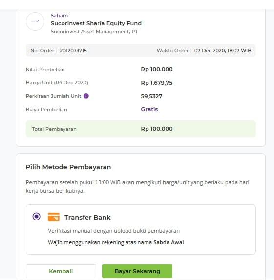 Beli reksa dana di website bareksa