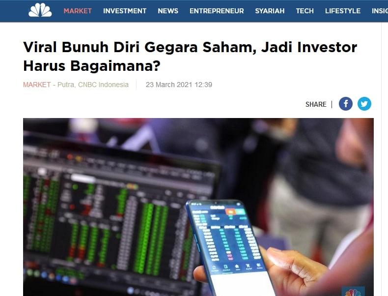 bunuh diri karena saham