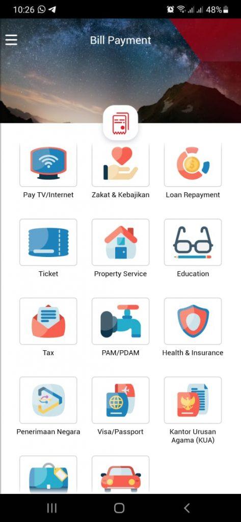 bayar tagihan di OCTO Mobile CIMB Niaga
