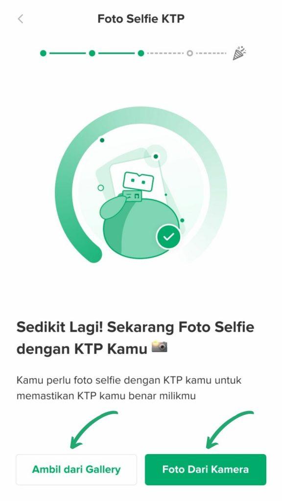 Foto selfie KTP Bibit