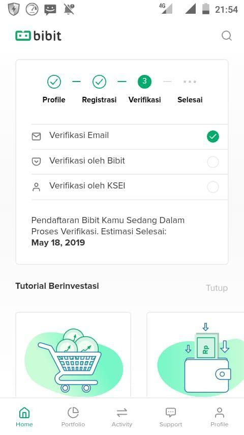 Verifikasi email Bibit